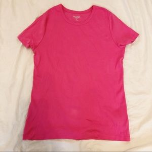 Hot Pink Land's End Tee